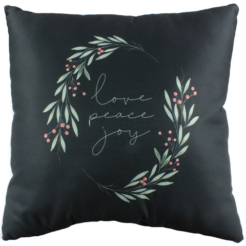 Love Peace Joy Reversible Pillow - More Colors Available
