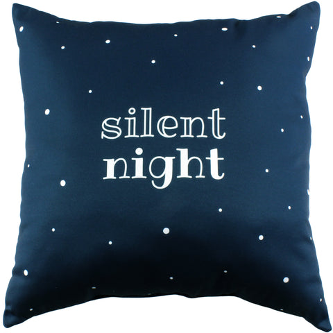 Silent Night Reversible Pillow