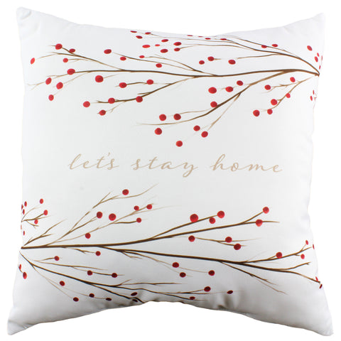 Let's Stay Home Reversible Pillow