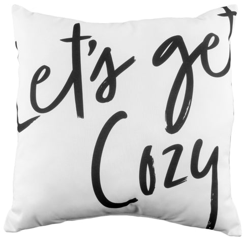 Let's Get Cozy Reversible Pillow
