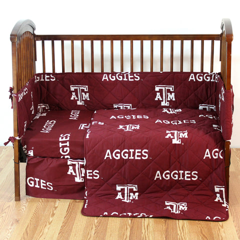 Texas A&M Aggies 5 piece Baby Crib Set