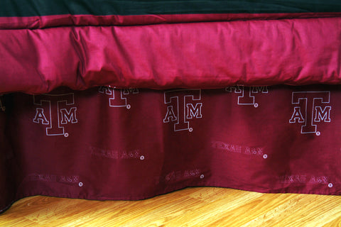 Texas A&M Aggies Dust Ruffle