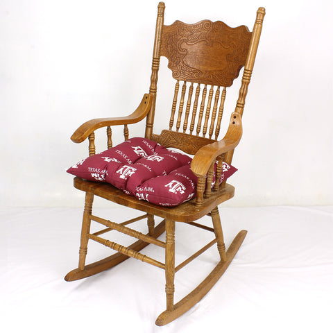 Texas A&M Aggies Rocker Pad - Chair Cushion