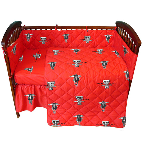 Texas Tech Red Raiders 5 piece Baby Crib Set