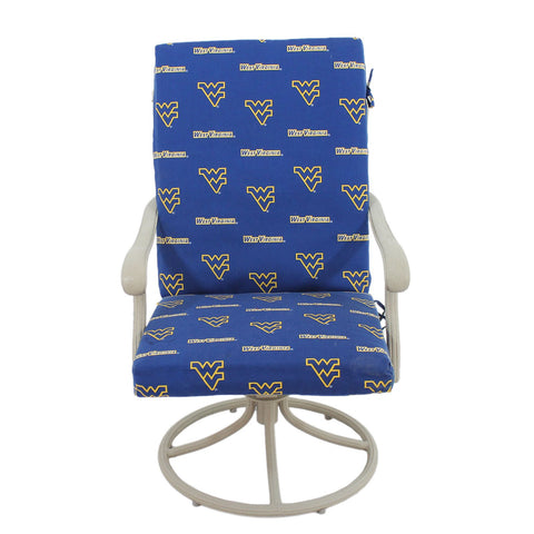 West Virginia Mountaineers Two Piece Chair Cushion