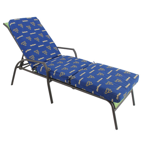 West Virginia Mountaineers Three Piece Chaise Lounge Cushion