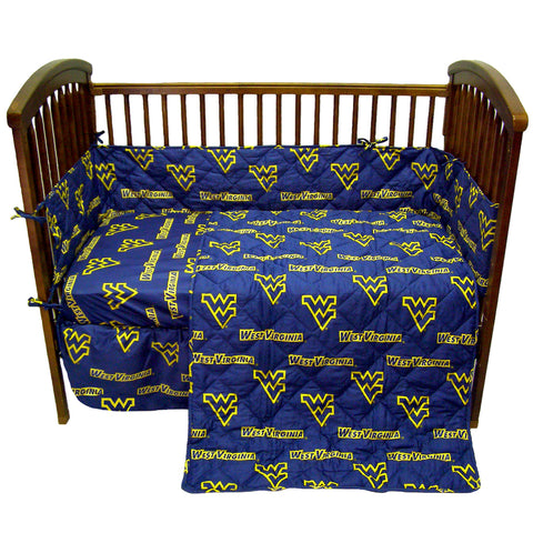 West Virginia Mountaineers 5 piece Baby Crib Set