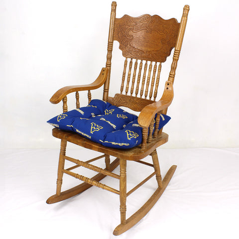 West Virginia Mountaineers Rocker Pad - Chair Cushion