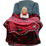 "Arkansas Razorbacks Raschel Throw Blanket, 50"" x 60"""