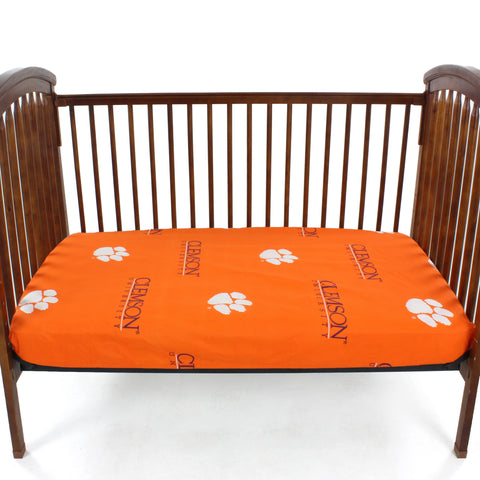 Clemson Tigers Baby Crib Fitted Sheets