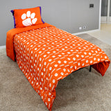 Clemson Tigers Reversible Polyester Comforter Set