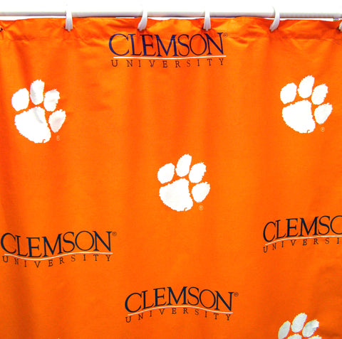 Clemson Tigers Shower Curtain Cover