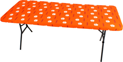 Clemson Tigers Fitted Table Cover / Tablecloth:  3 Sizes Available