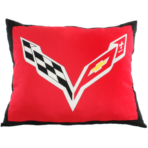 "Corvette Fully Stuffed 28"" Big Logo Pillow"
