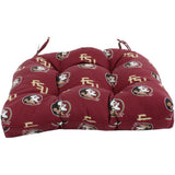 "Florida State Seminoles Indoor / Outdoor Seat Cushion Patio D Cushion 20"" x 20"", 2 Tie Backs"