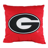 "Georgia Bulldogs 2 Sided Decorative Pillow, 16"" x 16"", Made in the USA"