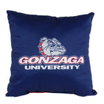 "Gonzaga Bulldogs 2 Sided Decorative Pillow, 16"" x 16"", Made in the USA"