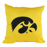 "Iowa Hawkeyes 2 Sided Decorative Pillow, 16"" x 16"", Made in the USA"