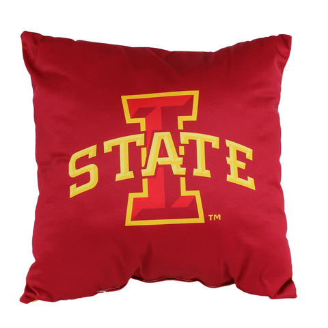 "Iowa State Cyclones 2 Sided Decorative Pillow, 16"" x 16"", Made in the USA"