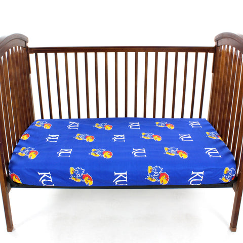 Kansas Jayhawks Baby Crib Fitted Sheet