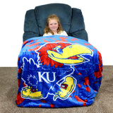 Kansas Jayhawks Throw Blanket / Bedspread