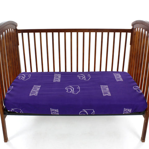 Kansas State Wildcats Baby Crib Fitted Sheet
