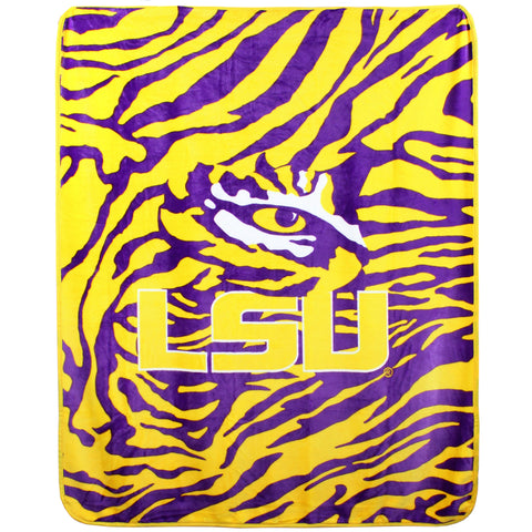 "LSU Tigers Throw Blanket, 50"" x 60"""