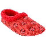 Ohio State Buckeyes Chevron Slip On Slippers