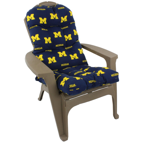 Michigan Wolverines Adirondack Cushion