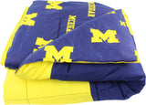 Michigan Wolverines Reversible Cotton Comforter Set