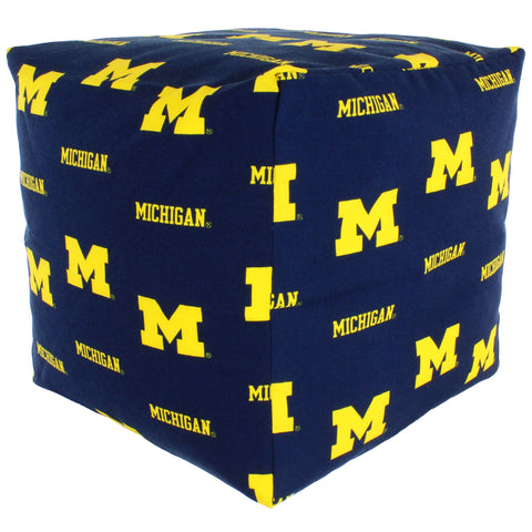 Michigan Wolverines Cube Cushion