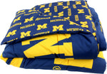 Michigan Wolverines Reversible Polyester Comforter Set