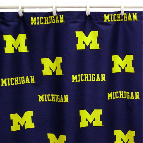 Michigan Wolverines Shower Curtain Cover