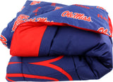 Ole Miss Rebels Reversible Cotton Comforter Set