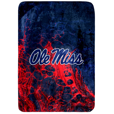 Ole Miss Rebels Sublimated Soft Throw Blanket