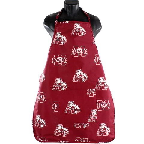 "Mississippi State Bulldogs Grilling Tailgating Apron with 9"" Pocket, Adjustable"