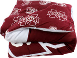 Mississippi State Bulldogs Reversible Cotton Comforter Set