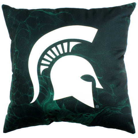 "Michigan State Spartans 2 Sided Decorative Pillow, 16"" x 16"", Made in the USA"