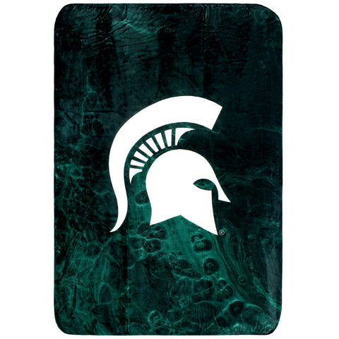 Michigan State Spartans Sublimated Soft Throw Blanket