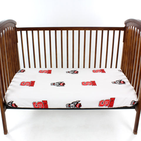 North Carolina State Wolfpack Baby Crib Fitted Sheet