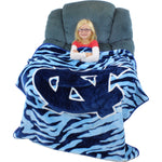 North Carolina Tar Heels Raschel Throw Blanket