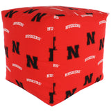 Nebraska Huskers Cube Cushion