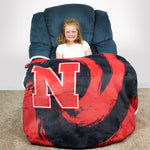 Nebraska Cornhuskers Sherpa Throw Blanket