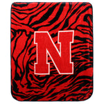 Nebraska Huskers Raschel Throw Blanket