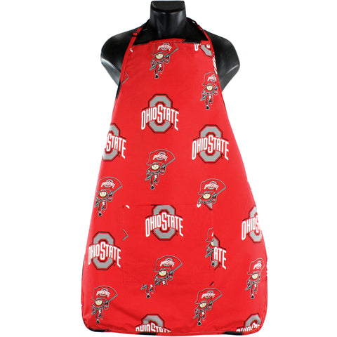 "Ohio State Buckeyes Grilling Tailgating Apron with 9"" Pocket, Adjustable"