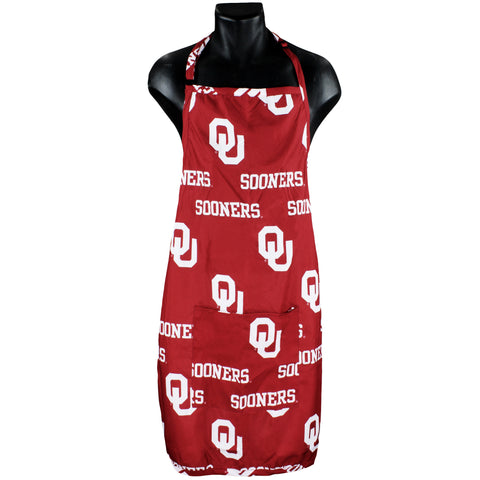 "Oklahoma Sooners Grilling Tailgating Apron with 9"" Pocket, Adjustable"