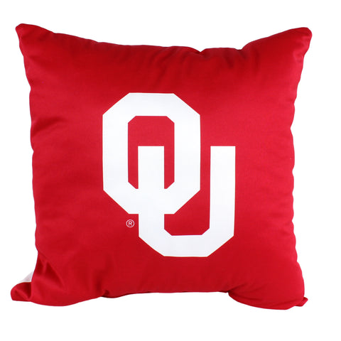 "Oklahoma Sooners 2 Sided Decorative Pillow, 16"" x 16"", Made in the USA"