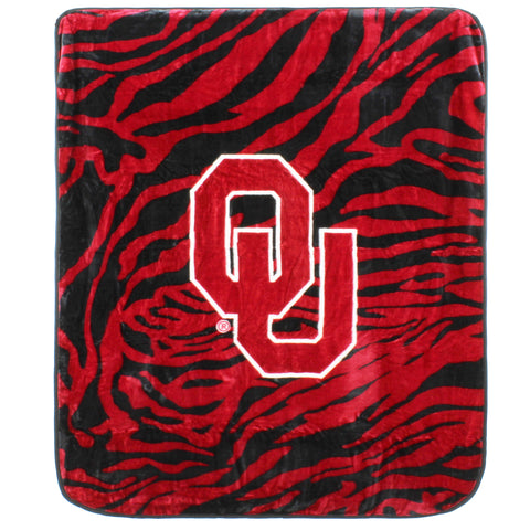 Oklahoma Sooners Raschel Throw Blanket