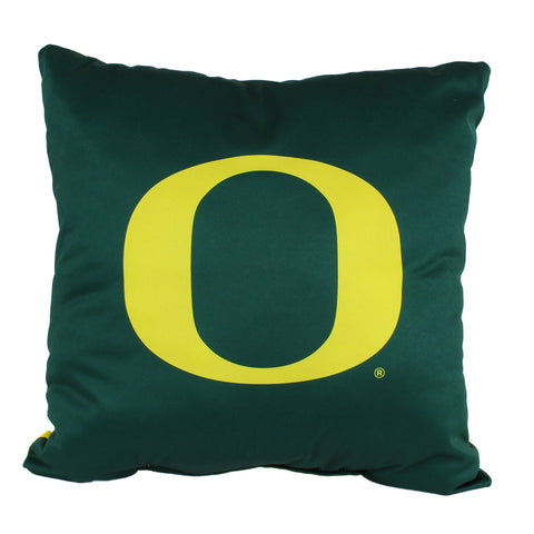 "Oregon Ducks 2 Sided Decorative Pillow, 16"" x 16"", Made in the USA"
