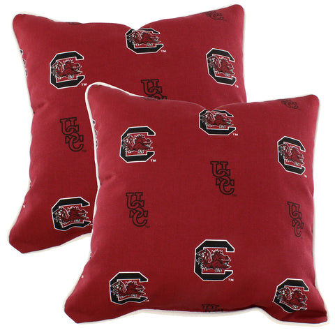 South Carolina Gamecocks Outdoor Decorative Pillow 16 X 16
